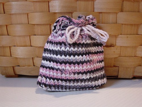 Quick Loom Knitted Gift Pouch