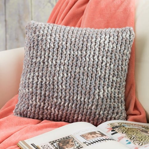 Loom Knit Throw Pillow