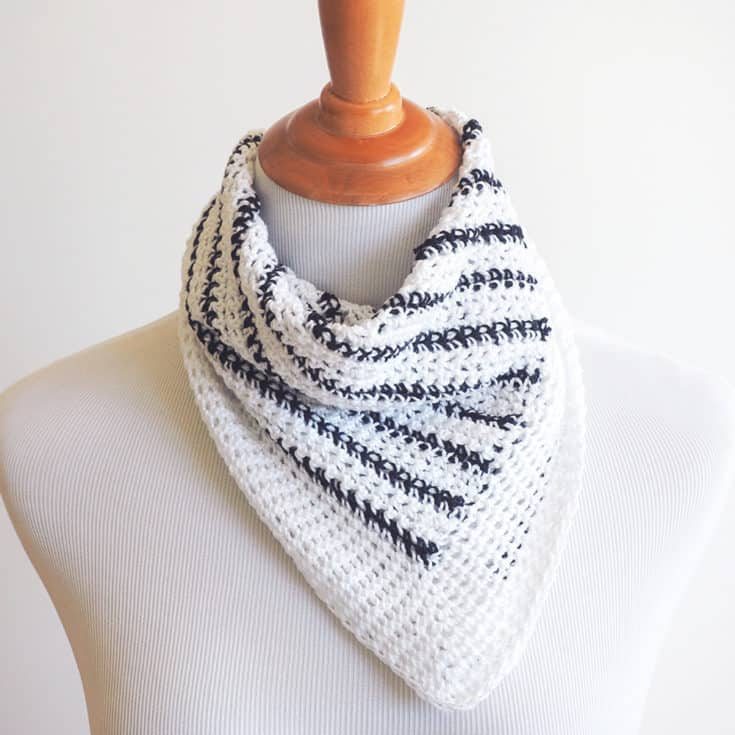 Striped Neck Scarf Crochet Pattern Ideal Me