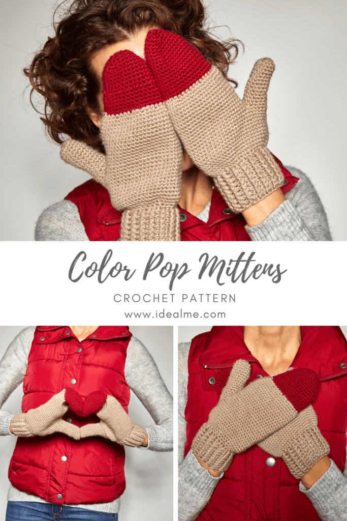 These Color Pop Mittens are just what you need to brighten up the colder days of Autumn. #crochetmittens #crochetpattern #crochetlove #crochetaddict