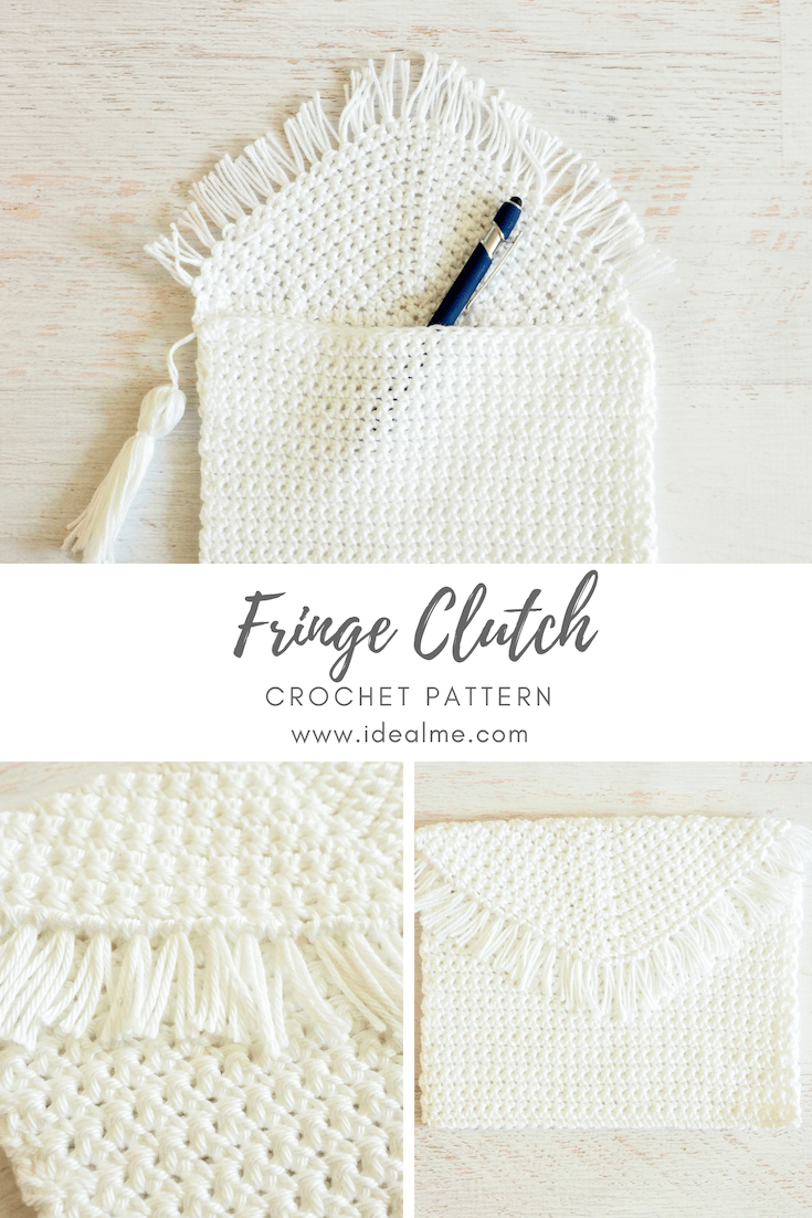 The Fringe Clutch is the perfect little present you can make for that teen or tween in your life who loves getting dressed up. #crochetbag #crochetclutch #crochetpurse #crochetpattern #crochetlove #crochetaddict