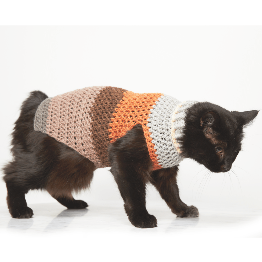 Small Pet Stripy Sweater Crochet Pattern , Ideal Me