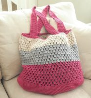 Puff Stitch Market Bag Crochet Pattern