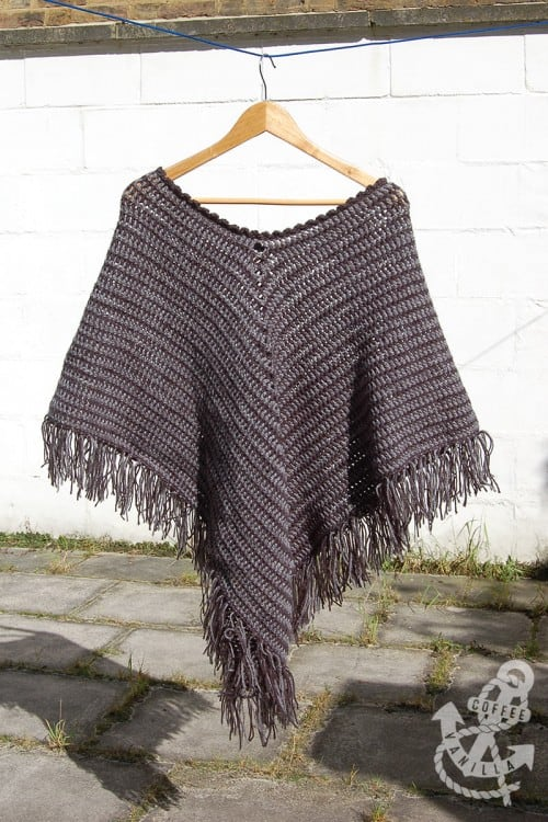 Classic Two-Tone Poncho - If you want to learn how to make a poncho, this list of 18 free crochet poncho patterns will help you. Pick your favorite from this bunch and start creating. #CrochetPonchoPatterns #FreeCrochetPatterns #CrochetAddict