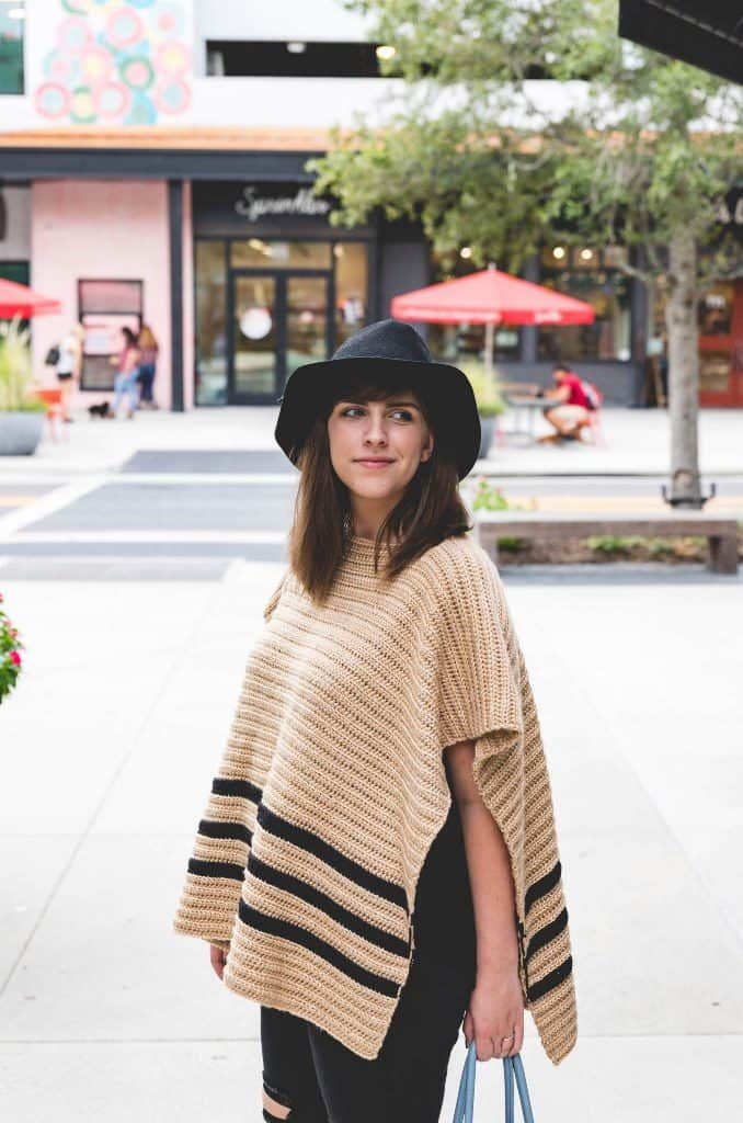 Crochet Rancher Poncho - If you want to learn how to make a poncho, this list of 18 free crochet poncho patterns will help you. Pick your favorite from this bunch and start creating. #CrochetPonchoPatterns #FreeCrochetPatterns #CrochetAddict