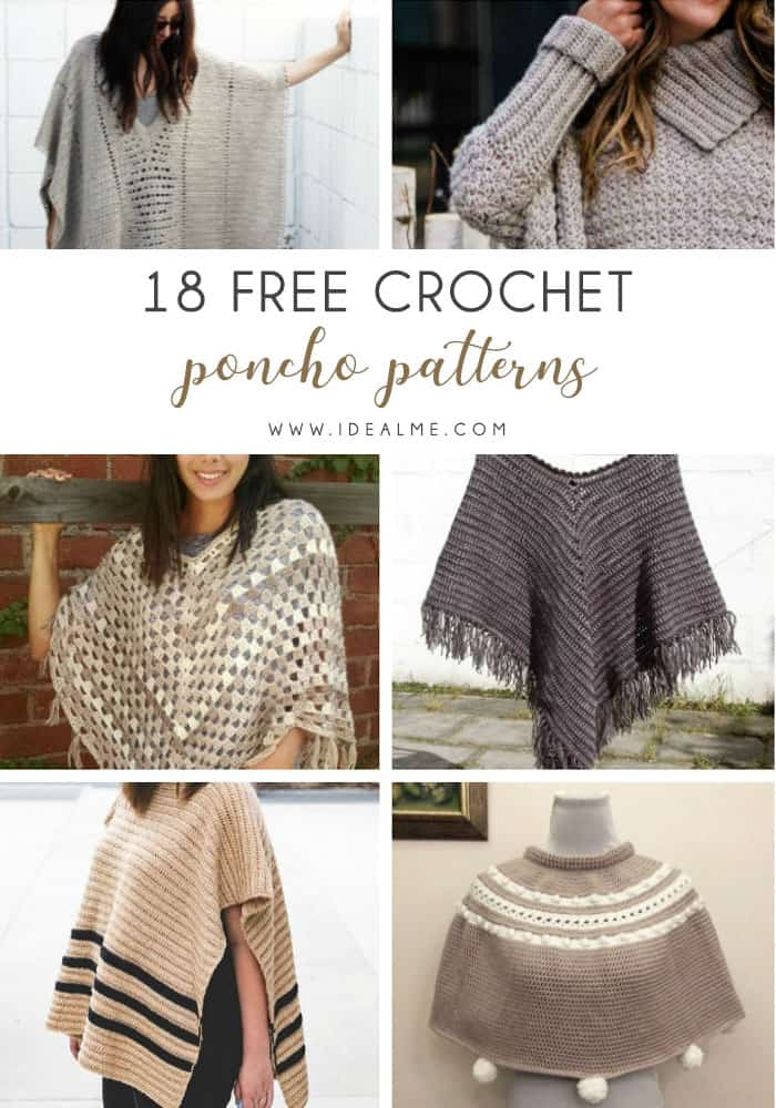 If you want to learn how to make a poncho, this list of 18 free crochet patterns will help you. Pick your favorite from this bunch and start creating. #CrochetPonchoPatterns #FreeCrochetPatterns #CrochetAddict