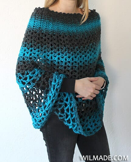 Perfect Gift Poncho - If you want to learn how to make a poncho, this list of 18 free crochet poncho patterns will help you. Pick your favorite from this bunch and start creating. #CrochetPonchoPatterns #FreeCrochetPatterns #CrochetAddict