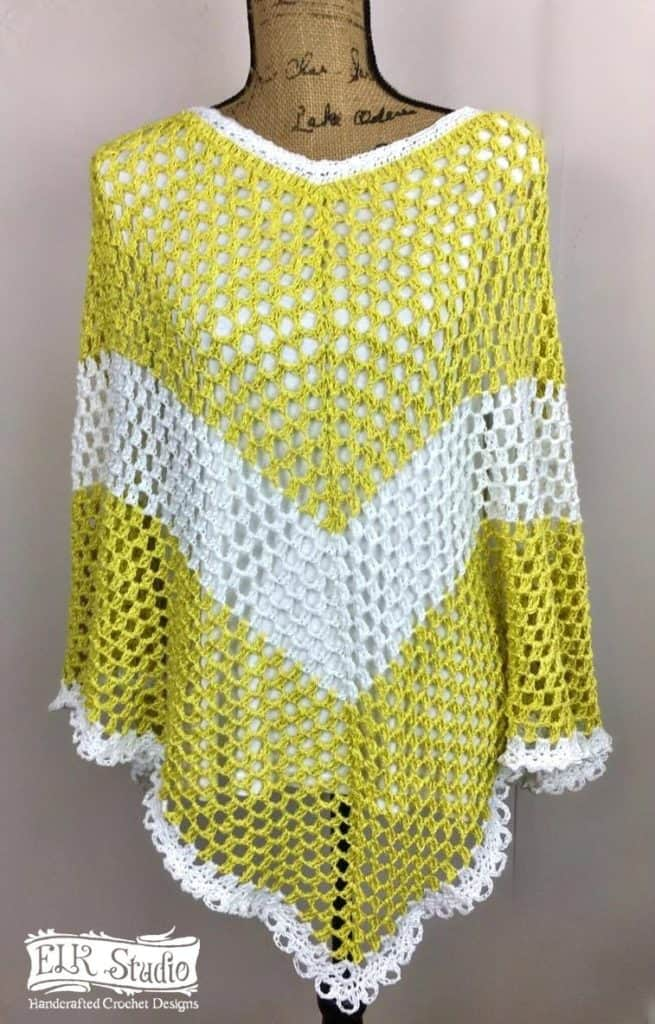 Southern Spring Fling Poncho - If you want to learn how to make a poncho, this list of 18 free crochet poncho patterns will help you. Pick your favorite from this bunch and start creating. #CrochetPonchoPatterns #FreeCrochetPatterns #CrochetAddict