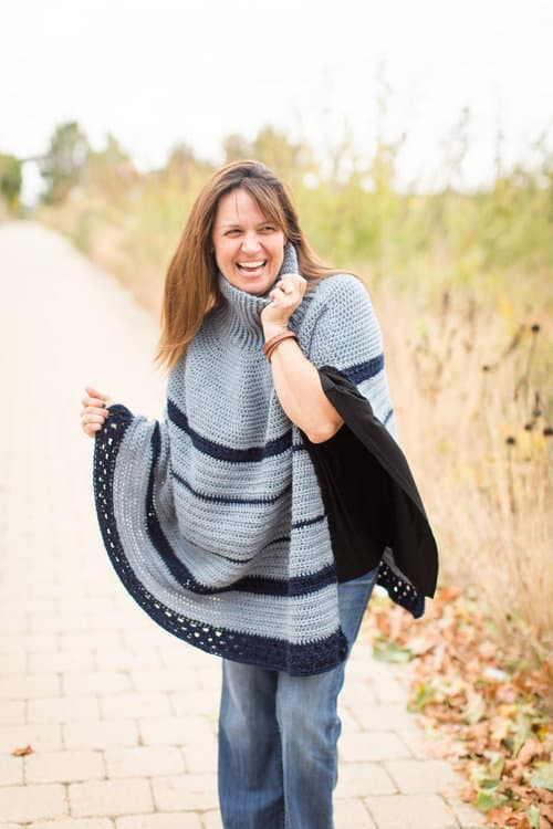 The Montana Poncho - If you want to learn how to make a poncho, this list of 18 free crochet poncho patterns will help you. Pick your favorite from this bunch and start creating. #CrochetPonchoPatterns #FreeCrochetPatterns #CrochetAddict