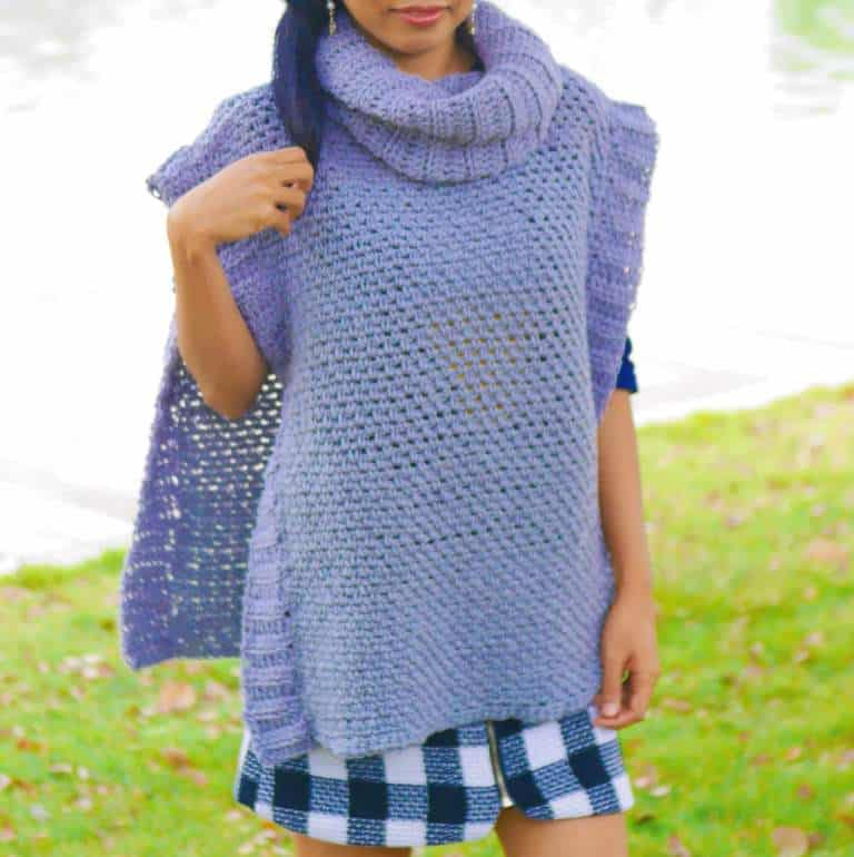 The Beginner Poncho - If you want to learn how to make a poncho, this list of 18 free crochet poncho patterns will help you. Pick your favorite from this bunch and start creating. #CrochetPonchoPatterns #FreeCrochetPatterns #CrochetAddict