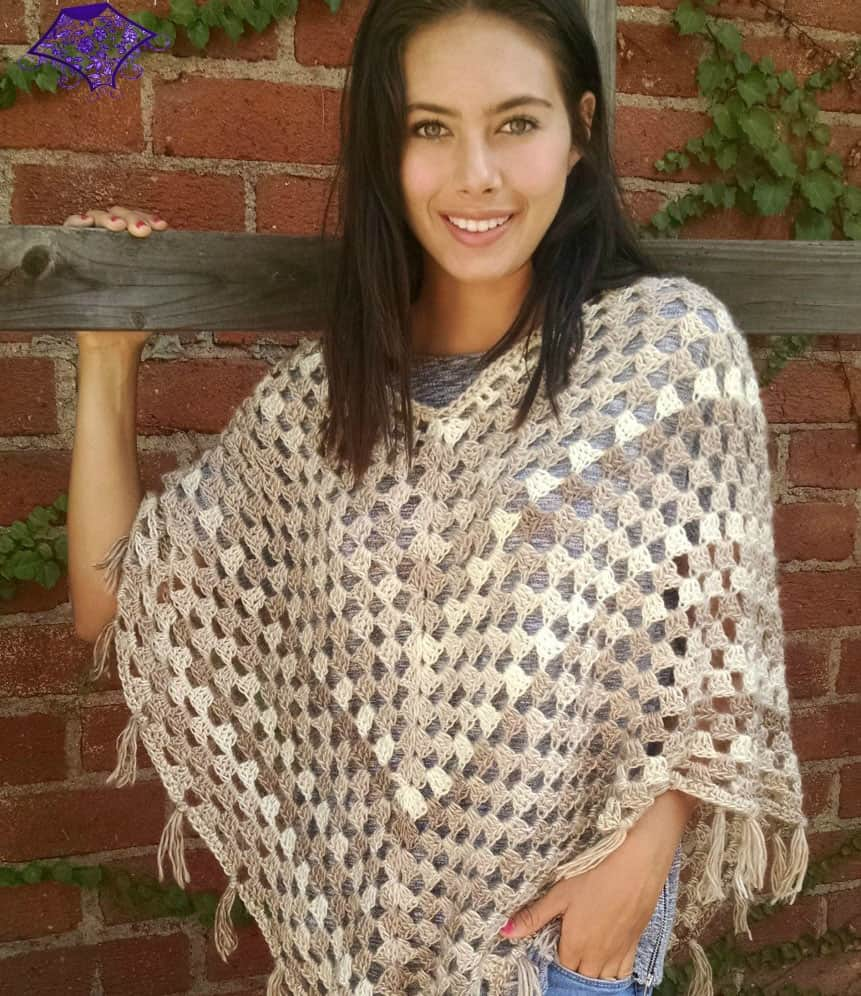 Timeless Boho Poncho - If you want to learn how to make a poncho, this list of 18 free crochet poncho patterns will help you. Pick your favorite from this bunch and start creating. #CrochetPonchoPatterns #FreeCrochetPatterns #CrochetAddict