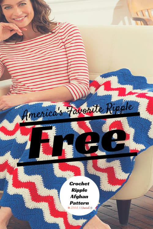 Fourth of July Ripple Afghan - Crochet afghans are colorful and exciting and full of life. There's so much room for creativity in these crochet blanket patterns. #CrochetAfghans #CrochetPatterns #CrochetBlankets