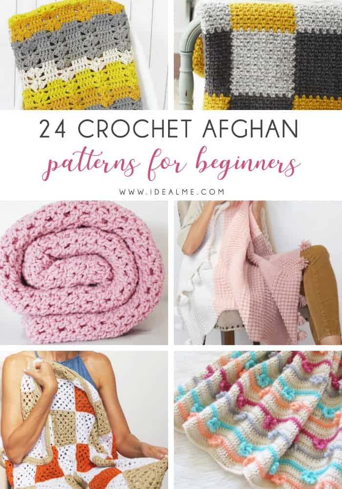 Crochet afghans are colorful and exciting and full of life. There's so much room for creativity in these crochet blanket patterns. #CrochetAfghans #CrochetPatterns #CrochetBlankets