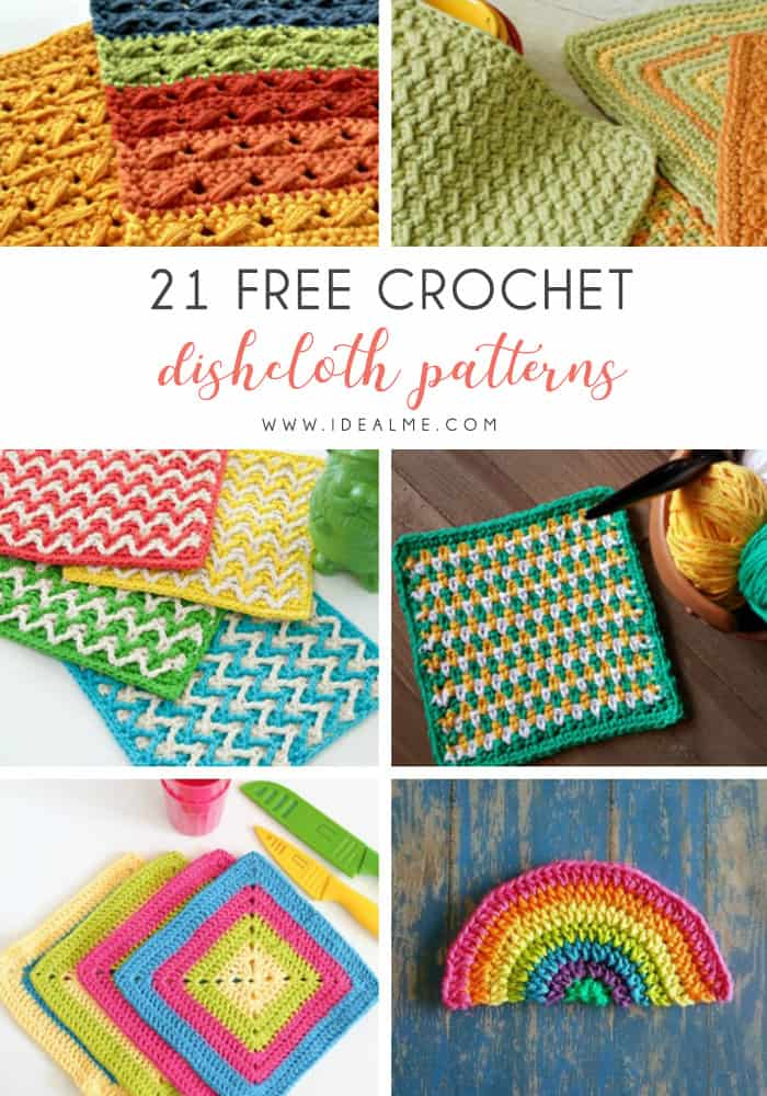 These crochet dishcloth patterns are all free and are so different from each other. Test your creativity with one of these brilliant dishcloth patterns. #CrochetDishclothPatterns #CrochetPatterns #DishclothPatterns