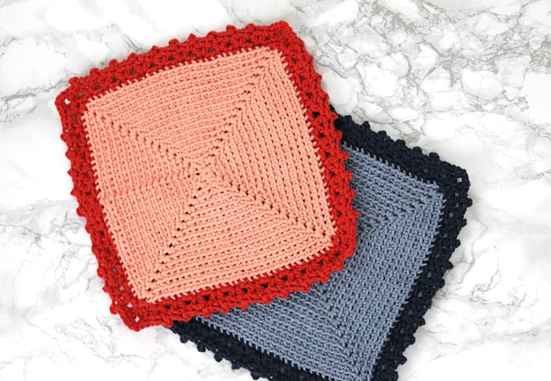 The Cottage Dishcloth - These crochet dishcloth patterns are all free and are so different from each other. Test your creativity with one of these brilliant dishcloth patterns. #CrochetDishclothPatterns #CrochetPatterns #DishclothPatterns
