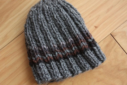 Charlie Brown Knit Hat - These 23 easy knitting patterns for hats are a perfect starting place for beginners, and they're fun to do for even seasoned knitters. #knittingpatterns #knithatpatterns