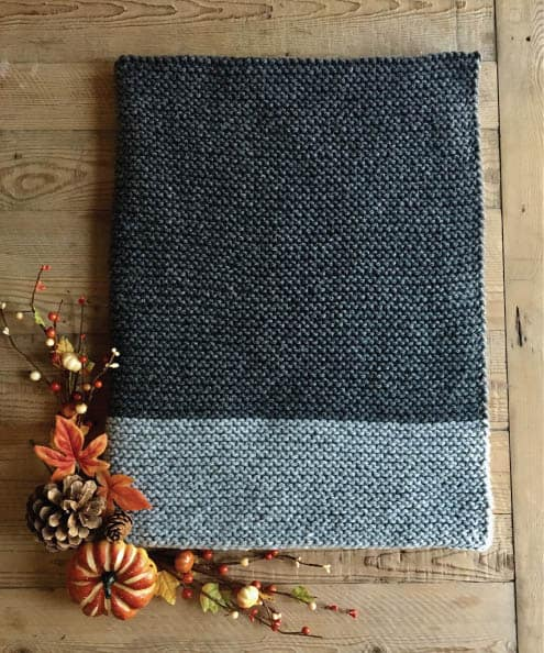 Fall Baby Blanket - These knitting patterns for baby blankets are easy and adorable you might find yourself making more than just one! #knittingpatterns #babyblanketknittingpatterns #babyblankets