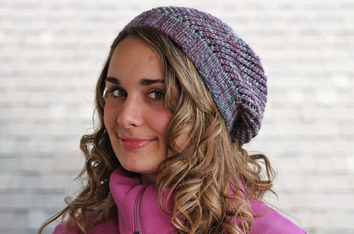 Mystic Fog Beanie - These 23 easy knitting patterns for hats are a perfect starting place for beginners, and they're fun to do for even seasoned knitters. #knittingpatterns #knithatpatterns