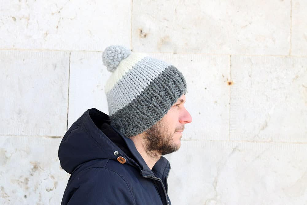 The Hektor - These 23 easy knitting patterns for hats are a perfect starting place for beginners, and they're fun to do for even seasoned knitters. #knittingpatterns #knithatpatterns