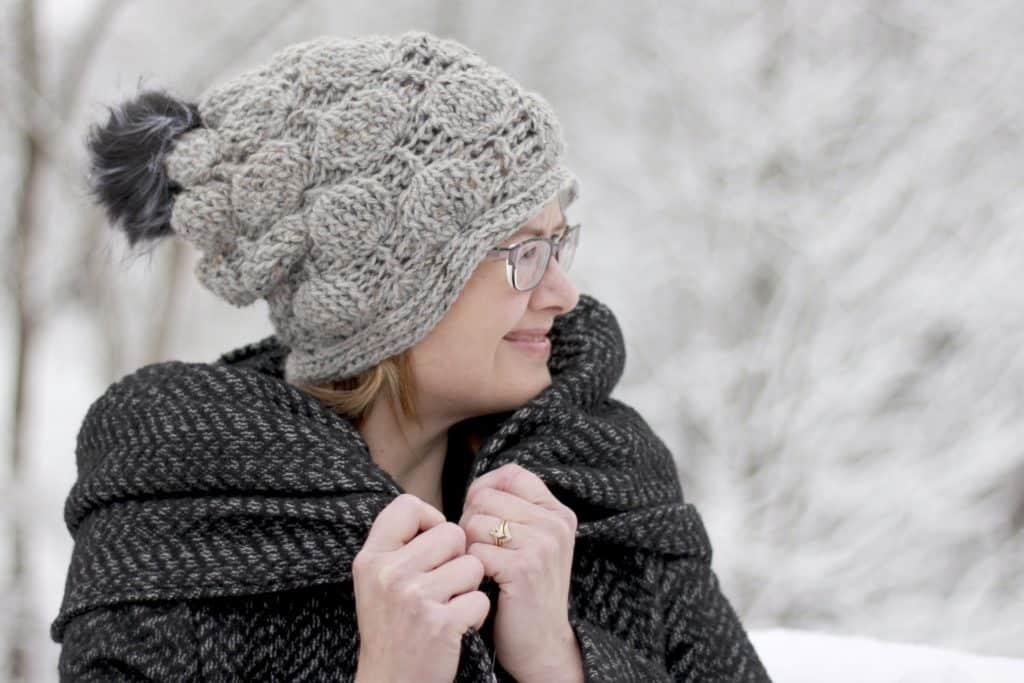 Balloon Stitch Hat - These 26 crochet winter hat patterns are perfect to create a winter hat accessory that you love and can rely on. #crochetwinterhat #crochetpatterns #crochethatpatterns
