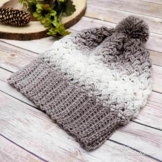 Crochet Coffee Bean Beanie - These 26 crochet winter hat patterns are perfect to create a winter hat accessory that you love and can rely on. #crochetwinterhat #crochetpatterns #crochethatpatterns