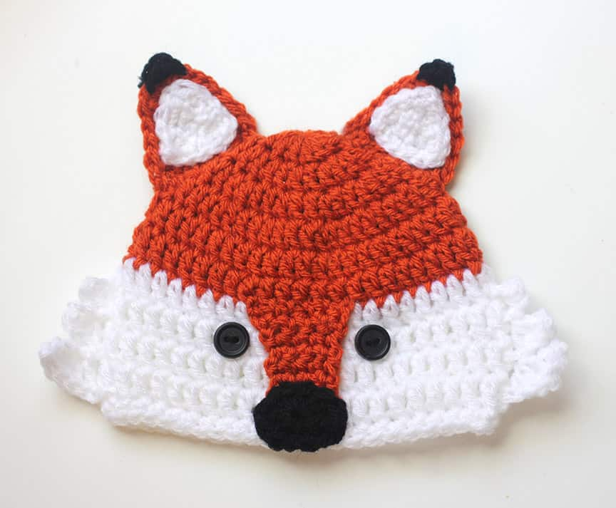 Crochet Fox Hat - These 26 crochet winter hat patterns are perfect to create a winter hat accessory that you love and can rely on. #crochetwinterhat #crochetpatterns #crochethatpatterns