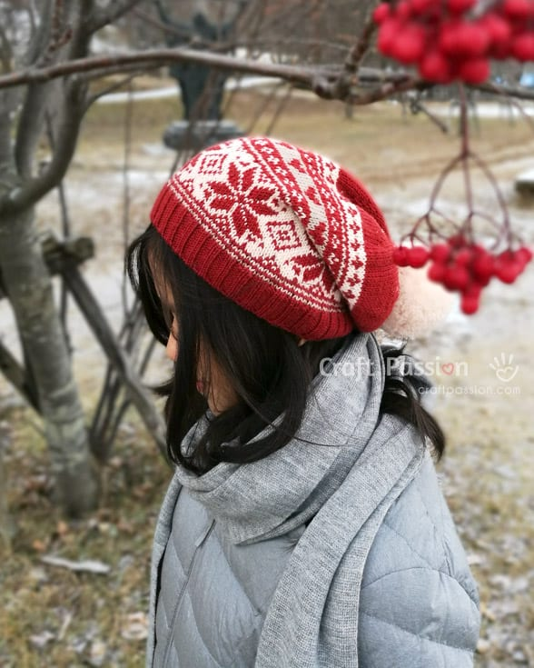 Fair Isle Beanie - Explore these 11 free Fair Isle holiday knit patterns that will turn your knit projects from ordinary to holiday ready! #fairisleknit #holidayknits