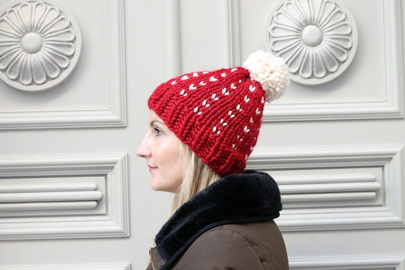 Fair Isle Hat - Explore these 11 free Fair Isle holiday knit patterns that will turn your knit projects from ordinary to holiday ready! #fairisleknit #holidayknits