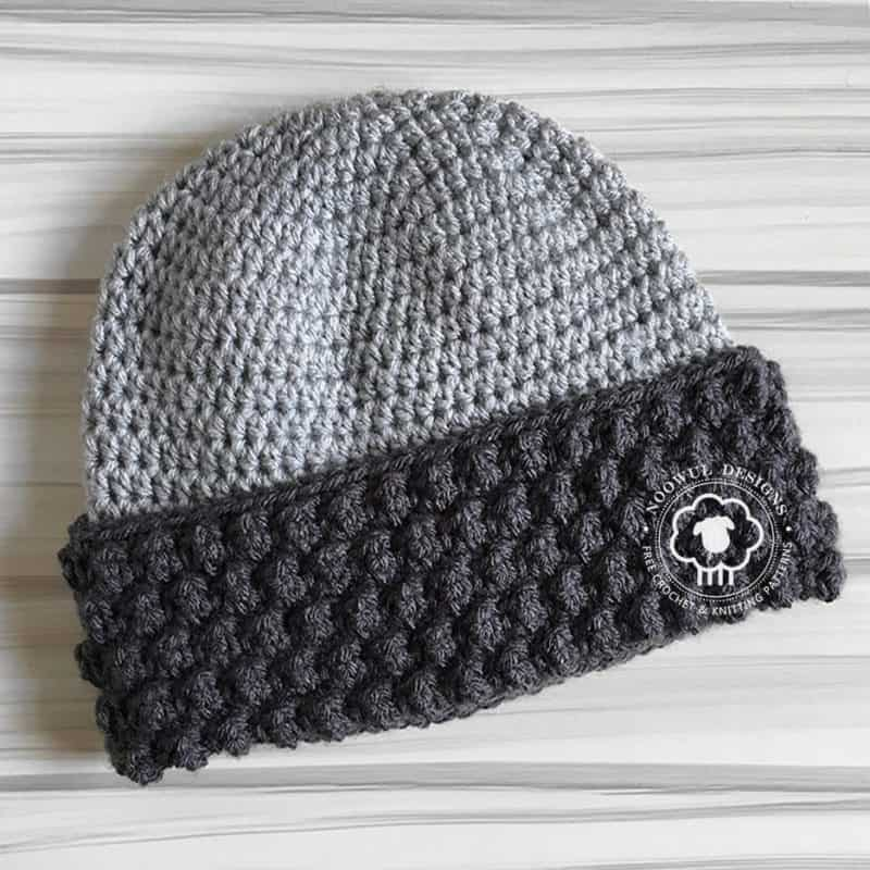 Klem Hat - These 26 crochet winter hat patterns are perfect to create a winter hat accessory that you love and can rely on. #crochetwinterhat #crochetpatterns #crochethatpatterns