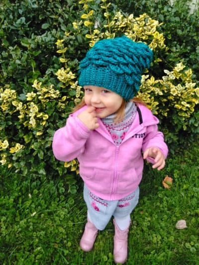Mermaid Slouchy Hat for Kids - These 26 crochet winter hat patterns are perfect to create a winter hat accessory that you love and can rely on. #crochetwinterhat #crochetpatterns #crochethatpatterns