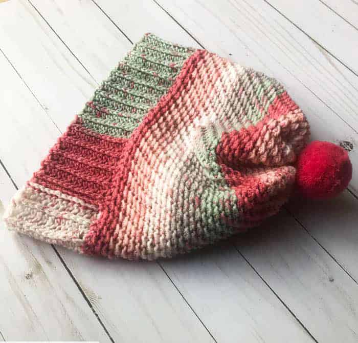 Over the Ridge Crochet Hat with Brim - These 26 crochet winter hat patterns are perfect to create a winter hat accessory that you love and can rely on. #crochetwinterhat #crochetpatterns #crochethatpatterns