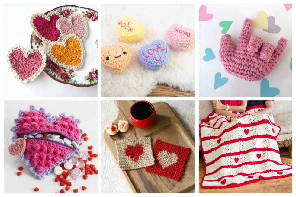 28 Easy Crochet Projects for Valentines - Check out this list of 'love'-ly easy crochet projects you can do for the ones you love. These range from easy trinkets, wreaths and blankets. #EasyCrochetProjects #CrochetPatterns #ValentineCrochetPatterns