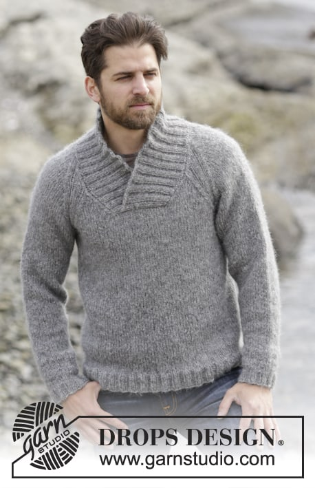 Aberdeen Sweater - Keep yourself warm and comfy this season by knitting one of these knitted sweater patterns. You can choose from the basic pullover to a more daring design. #knittedsweaterpatterns #knittingpatterns #knitsweaterpatterns