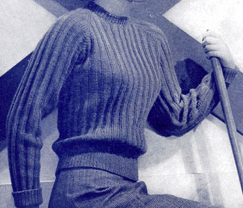 Classic Vintage Pullover - Keep yourself warm and comfy this season by knitting one of these knitted sweater patterns. You can choose from the basic pullover to a more daring design. #knittedsweaterpatterns #knittingpatterns #knitsweaterpatterns