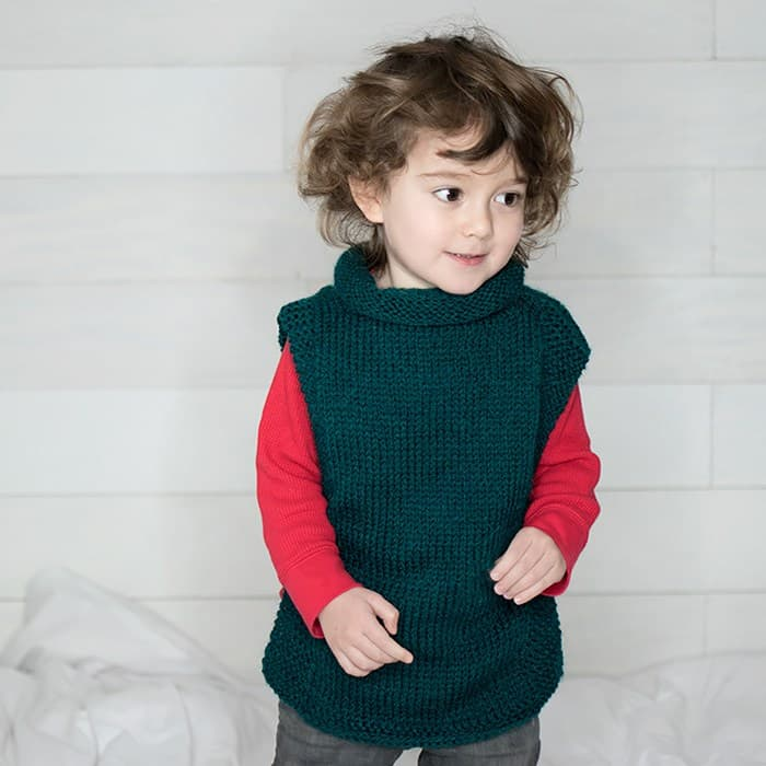 Jade Sleeveless Sweater - Keep yourself warm and comfy this season by knitting one of these knitted sweater patterns. You can choose from the basic pullover to a more daring design. #knittedsweaterpatterns #knittingpatterns #knitsweaterpatterns
