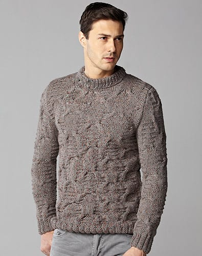 Men's Slim Fit Sweater - Keep yourself warm and comfy this season by knitting one of these knitted sweater patterns. You can choose from the basic pullover to a more daring design. #knittedsweaterpatterns #knittingpatterns #knitsweaterpatterns