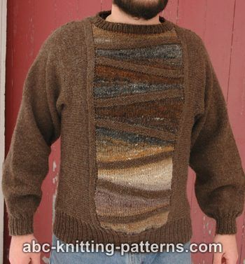 Men's Nice and Neutral Knit Sweater - Keep yourself warm and comfy this season by knitting one of these knitted sweater patterns. You can choose from the basic pullover to a more daring design. #knittedsweaterpatterns #knittingpatterns #knitsweaterpatterns